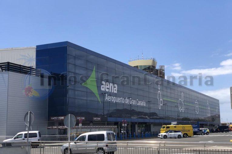 Das Hauptgebäude des Flughafen Gran Canaria