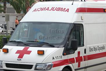 Unfall auf der GC-2 mit fünf Verletzten zwischen 19 und 21 Jahren