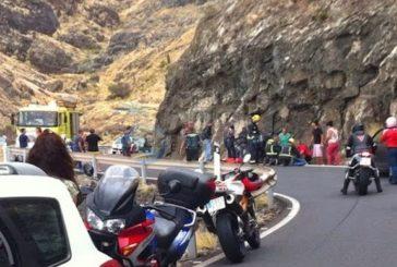 Motorradfahrer stirbt auf der GC-200 zwischen Aldea und Agaete