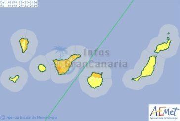 Heute Warnstufe Orange statt Gelb, Sturmfront hat Kanaren erreicht