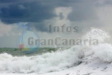 Warnstufe gelb - starke Wellen erwartet