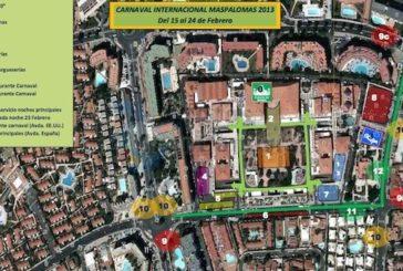 Veränderungen an den Buden zum Maspalomas Karneval 2013
