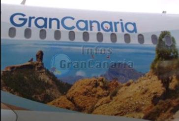 Werbung über den Wolken: Maschine von Thomas Cook fliegt Gran Canaria (inkl. Video)