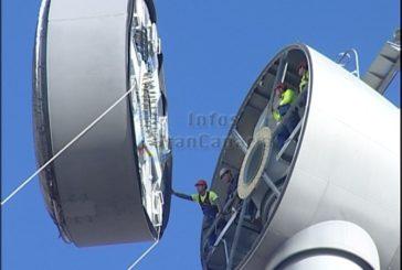 Neues Hochleistungs-Windrad wird installiert