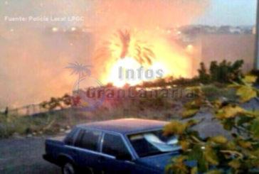 16 Familien wegen Brand bei Las Palmas evakuiert