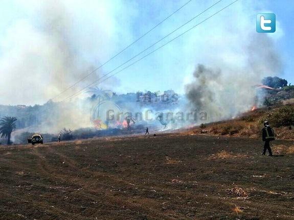 ZWEI Brände fast gleichzeitg auf Gran Canaria ausgebrochen