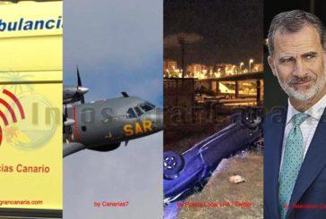 In Kurz: Wanderer gerettet, neues Flüchtlingsboot abgefangen, spektakulärer Unfall in Las Palmas, Neuwahlen in Spanien?