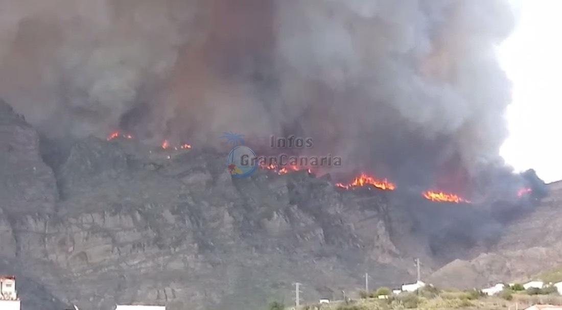 Der goße Waldbrand 2019 auf Gran Canaria wurde wohl durch eine Stromleitung verursacht