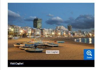 Reiseseite TravelMagma bewirbt Sardiniens Stadt Cagliari mit dem Playa Las Canteras