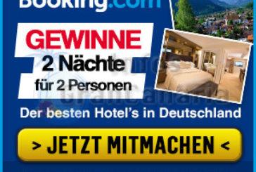 Gratis Hotel-Übernachtungen von booking.com gewinnen