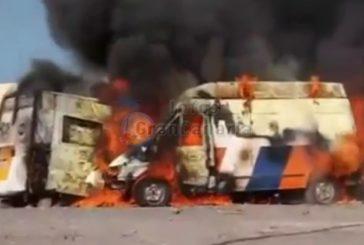 Erneut drei Krankenwagen durch Feuer zerstört - inkl. Video