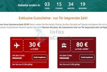 Nur ganz kurze Zeit: Fluggutschein und Rabatt bei Flug&Hotel-Angeboten möglich