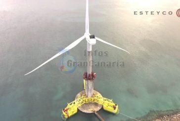 Pionierleistung: Neues selbst installierendes Offshore-Windrad vor Las Palmas verankert (inkl. Video)