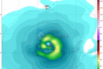 Wettermodelle: Tropensturm Leslie könnte am Donnerstag oder Freitag die Kanaren doch treffen