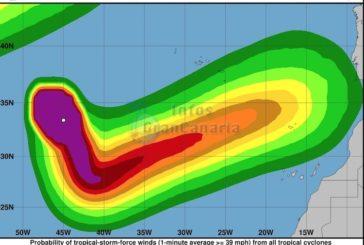 Tropensturm Leslie wird die Kanarischen Inseln nördlich passieren und nicht treffen!