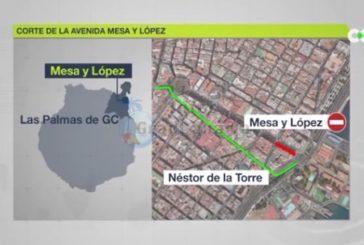 Av. Mesa y Lopez in Las Palmas für den Verkehr gesperrt - MetroGuaGua Bauarbeiten schreiten voran