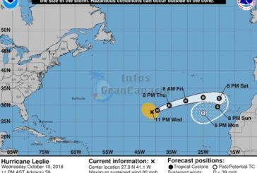 UPDATE zu Hurrikan Leslie: Nur der äußerste Westen der Kanaren derzeit gefärdet