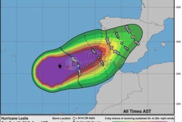 Hurrikan Leslie zieht völlig an den Kanaren vorbei und schlägt auf der iberischen Halbinsel ein