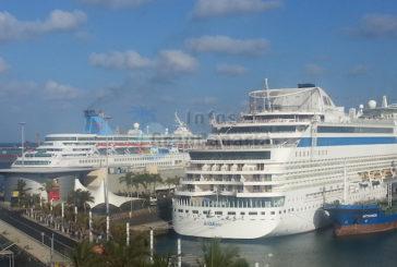 Kreuzfahrten Boomen weiterhin, Plus 17,8% in den Häfen Las Palmas registriert