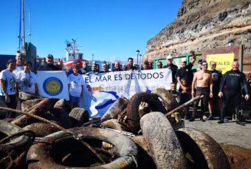 7 Tonnen Müll aus dem Meer bei Puerto Mogán geborgen