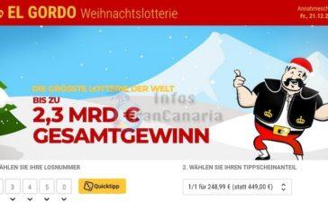 Canarios geben mehr für Weihnachtslotterie aus - Über 2,3 Milliarden € Ausschüttung - Jetzt online tippen!