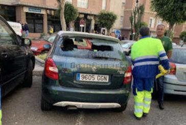 Straßenschlacht zwischen UD Las Palmas und Osasuna Fans zerstört diverse Scheiben in Autos