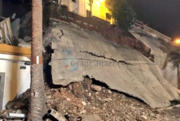 Einsturz einer Stützmauer am Paso de Chil in Las Palmas - 28 Menschen evakuiert