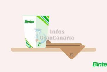 Binter setzt ein Zeichen - 9 Tonnen Plastikmüll pro Jahr fallen weg!