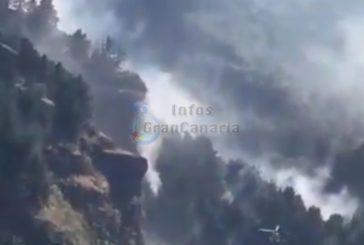 Waldbrand in Vallesco mit 1,5 Hektar stabilisiert - inkl. Video