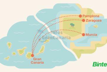 Binter baut Streckennetz aus - Mit Winterflugplan ab Gran Canaria nach Murcia, Saragossa und Pamplona!