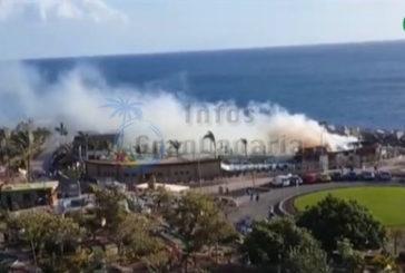 Amadores Beach Club stand in Flammen - Personen wurden nicht verletzt
