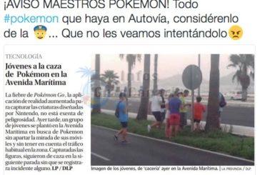 PokemonGo auf der Avenida Maritima - Die Polzei reagiert mit etwas Humor aber deutlich
