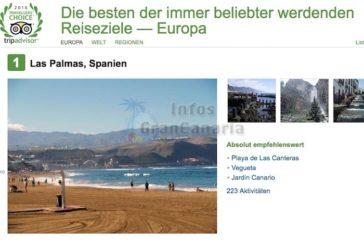 Las Palmas auf Platz 1 bei TripAdvisor!
