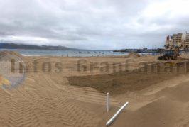 Die Vorbereitungen für die Sandkrippe 2019/2020 in Las Palmas laufen