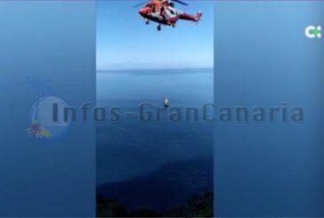 57-jährige Frau bei Wanderung in Agaete schwer verletzt (inkl. Video)