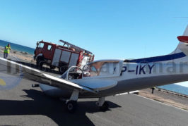 Flugzeugunfall am Sportflughafen San Agustín, keine Verletzten!