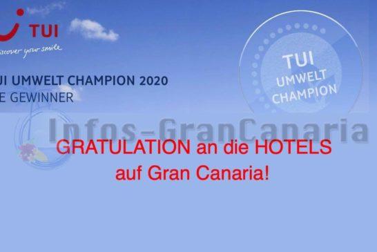 13 Hotels auf Gran Canaria bekommen TUI Umweltchampion 2020