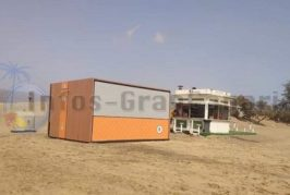 Installation der neuen Kioske am Strand hat begonnen - Es gibt auch Neuerungen dazu