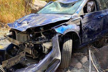 Fahrzeug stürzt in Schlucht in Mogán 2 Insassen verletzt