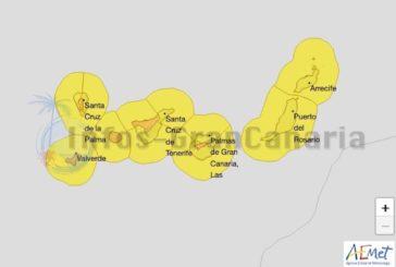 Wetterwarnung für die Kanaren: Stufe Orange (Wind) & Gelb (Calima, Wellen) herausgegeben