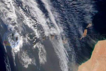 Calima hält an, aktuelles Bild der NASA - Temperaturen steigen