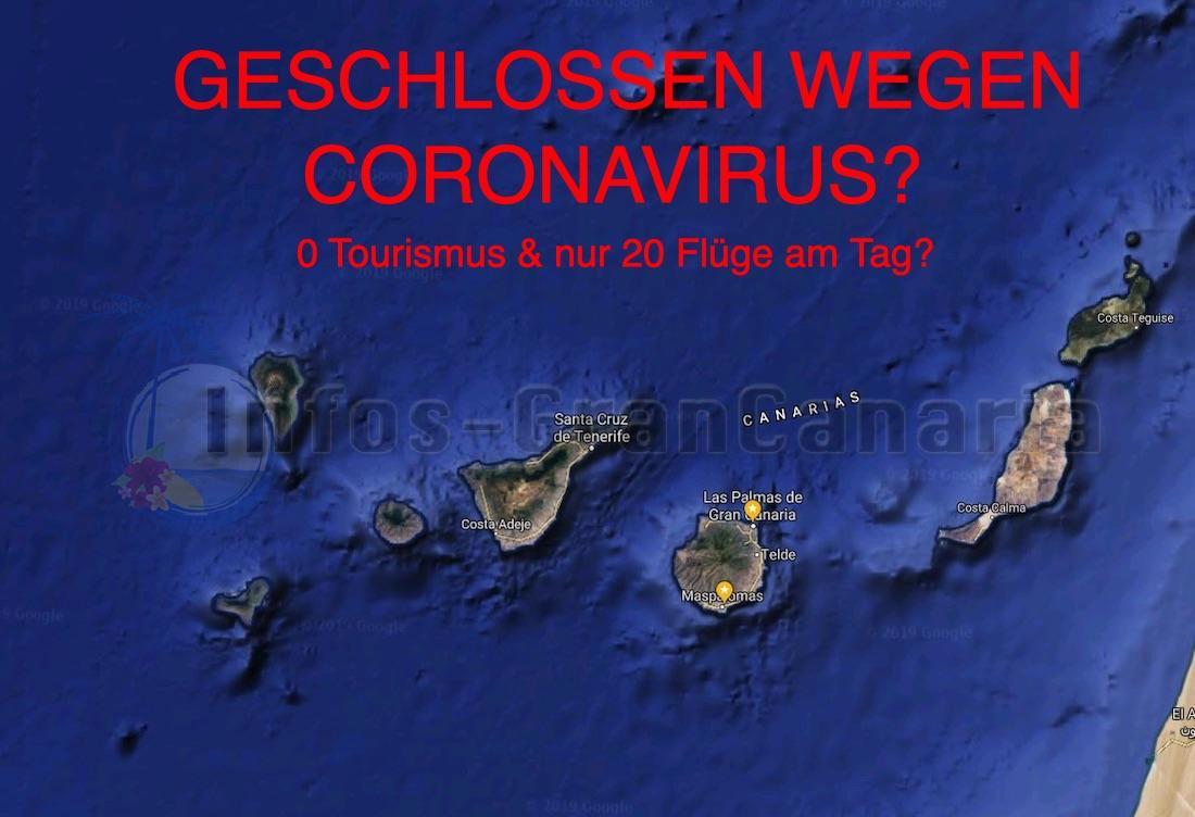 Coronavirus Update Kanaren: 0 Tourismus & nur noch 20 Flüge am Tag? Könnte passieren…