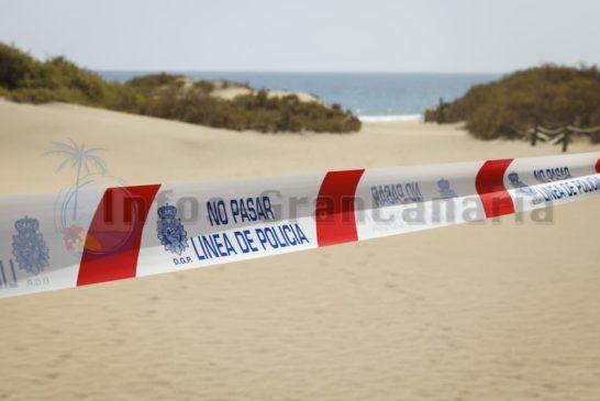 Polizei sperrt Strand