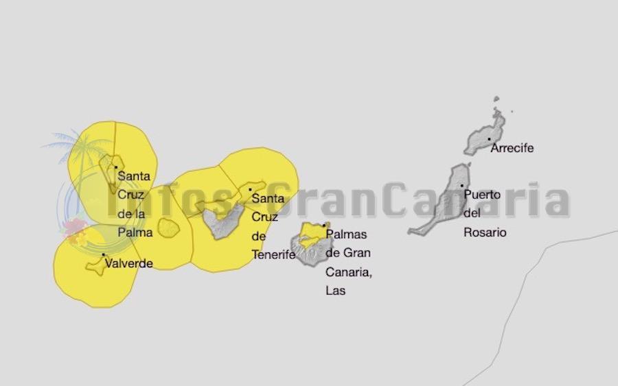 Warnstufe gelb beim Wetter für die Kanaren herausgegeben!