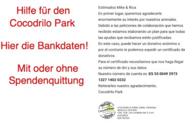 Spendenaufruf für den Cocodrilo Park auf Gran Canaria!