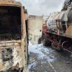 7 Spezial-Laster von Emalsa in Las Palmas durch Feuer zerstört