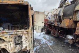 Verbrannte Emalsa Lastwagen wohl durch Brandstiftung zerstört