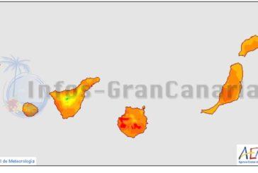 Hitzerekord in Spanien auf Gran Canaria aufgestellt