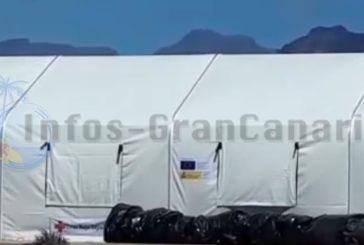 Flüchtlingslager im Hafengebiet von Arinaga für bis zu 900 Personen