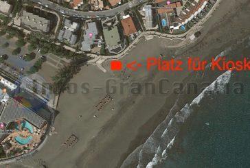 Neue Strandbar am Strand von San Agustín